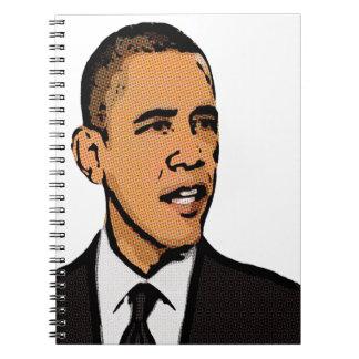 Barack Obama Libro De Apuntes Con Espiral