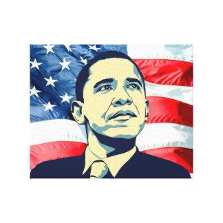Barack Obama Lona Envuelta Para Galerías