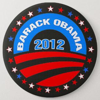 Barack Obama Logo 2012 Black Background Pinback Button