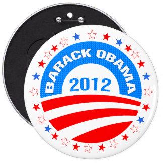 Barack Obama  Logo 2012-Diamond Pattern Texture Pinback Button