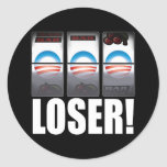 Barack Obama - Loser! Classic Round Sticker