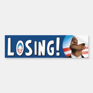 Barack Obama: Losing! Car Bumper Sticker