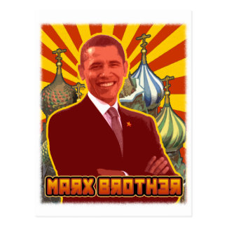 Barack Obama: Marx Brother Postcard