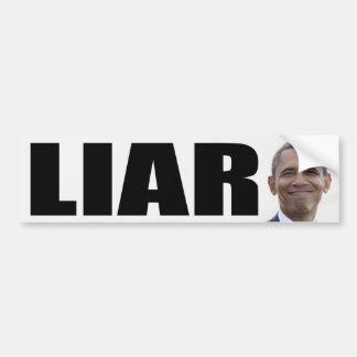 Barack Obama: Mentiroso Pegatina Para Auto