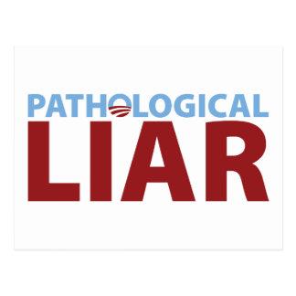 Barack Obama: Mentiroso patológico Postal