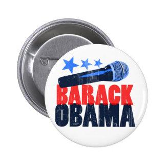 Barack Obama Mic Pin Redondo 5 Cm