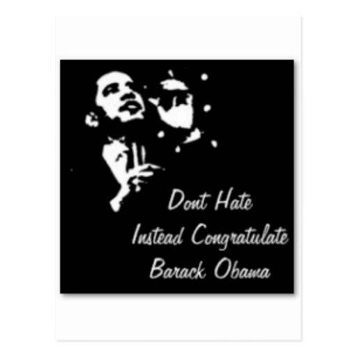 Barack Obama modificó para requisitos particulares Tarjeta Postal