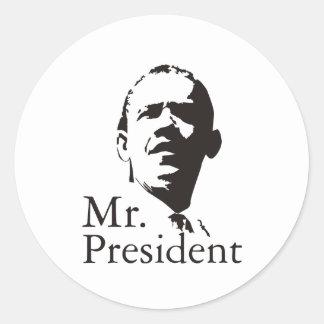 Barack Obama Mr President Classic Round Sticker