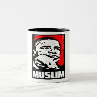 Barack Obama: ¡Musulmanes! Taza De Dos Tonos