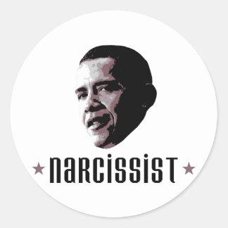 Barack Obama Narcissist Round Sticker