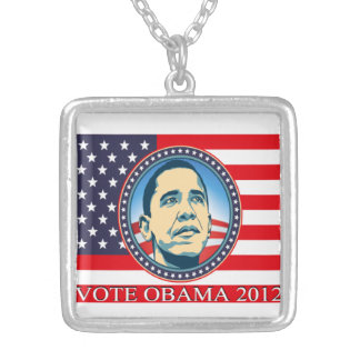 Barack Obama Square Pendant Necklace