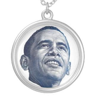 Barack Obama Round Pendant Necklace