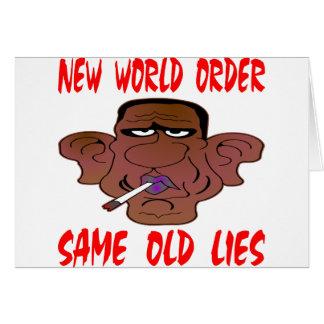 Barack Obama New World Order Same Old Lies Card