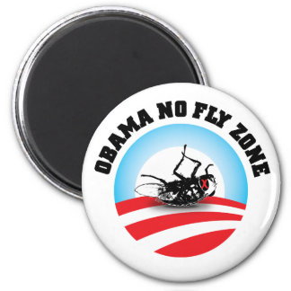 Barack Obama ninguna zona de mosca Imán Redondo 5 Cm