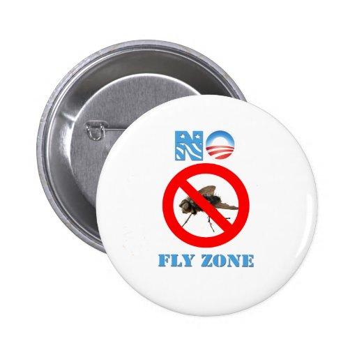 Barack Obama ninguna zona de mosca Pin Redondo De 2 Pulgadas