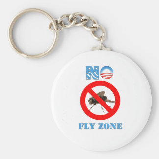 Barack Obama No Fly Zone Basic Round Button Keychain