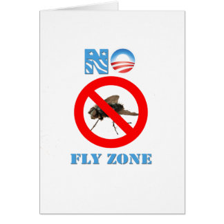Barack Obama No Fly Zone Greeting Cards