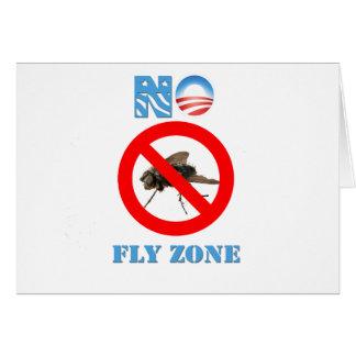 Barack Obama No Fly Zone Greeting Card