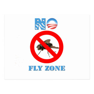 Barack Obama No Fly Zone Post Card