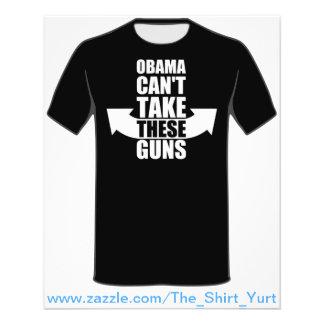 """Barack Obama no puede tomar estos armas Folleto 4.5"""" X 5.6"""""""