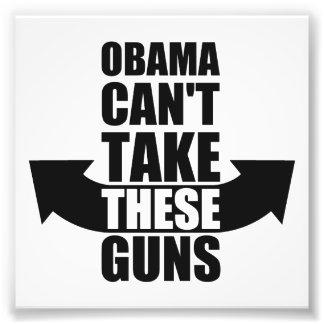 Barack Obama no puede tomar estos armas Fotografía