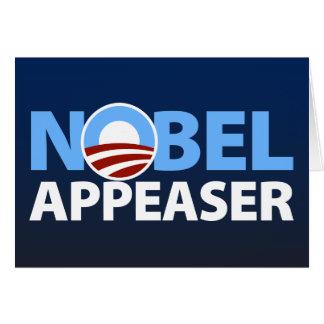 Barack Obama: Nobel Appeaser Card