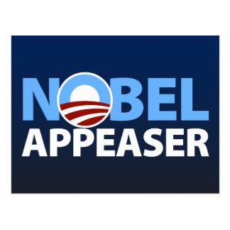 Barack Obama: Nobel Appeaser Postcard