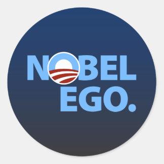 Barack Obama: Nobel Ego Classic Round Sticker