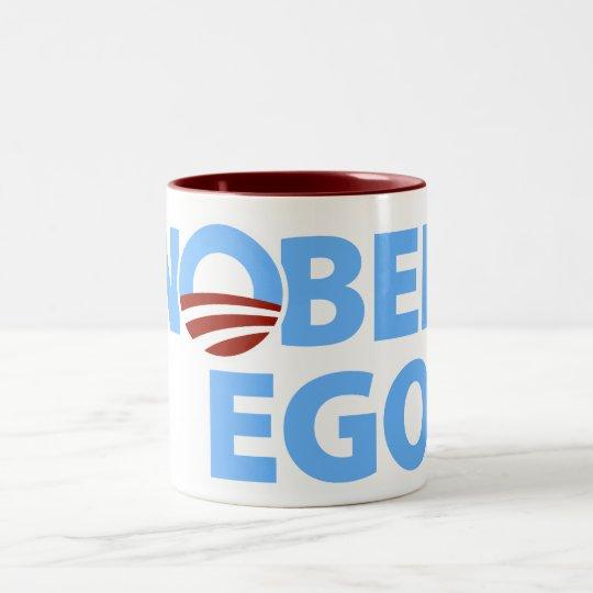 Barack Obama: Nobel Ego Two-Tone Coffee Mug