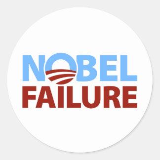 Barack Obama: Nobel Failure Classic Round Sticker