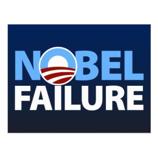 Barack Obama: Nobel Failure Postcard