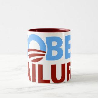 Barack Obama: Nobel Failure Two-Tone Coffee Mug