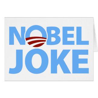 Barack Obama: Nobel Joke Card