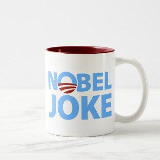 Barack Obama: Nobel Joke Two-Tone Coffee Mug