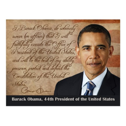 Barack Obama, Oath of Office Post Cards