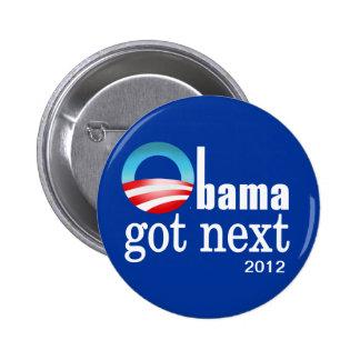 Barack Obama - Obama consiguió después Pin Redondo De 2 Pulgadas