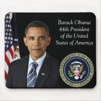 Barack Obama Official Photo 44th Pres Gold Seal Mouse Pad