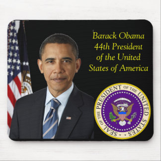 Barack Obama Official Photo 44th Seal Of The Pres Mouse Pad