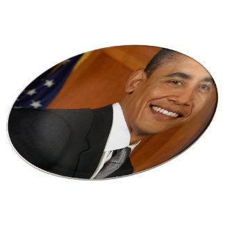 Barack Obama Official Portrait Dinner Plate
