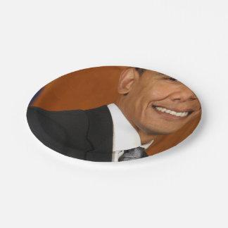 Barack Obama Official Portrait Paper Plate