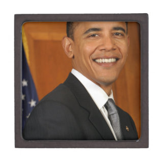 Barack Obama Official Portrait Premium Jewelry Boxes