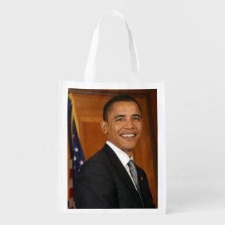 Barack Obama Official Portrait Reusable Grocery Bag