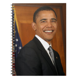 Barack Obama Official Portrait Spiral Notebook