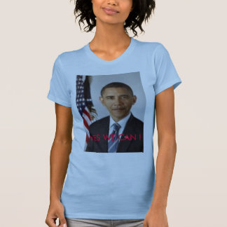 barack_obama_official_portrait, YES WE CAN ! T-Shirt