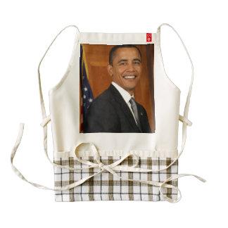 Barack Obama Official Portrait Zazzle HEART Apron