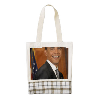 Barack Obama Official Portrait Zazzle HEART Tote Bag