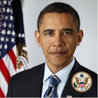 Barack Obama Official US Pres Portrait Great Seal Cutout