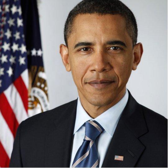 Barack Obama Official US Presidential Portrait Cutout
