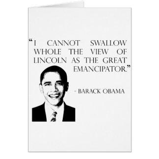 Barack Obama on war Card