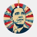 Barack Obama Ornamento De Navidad